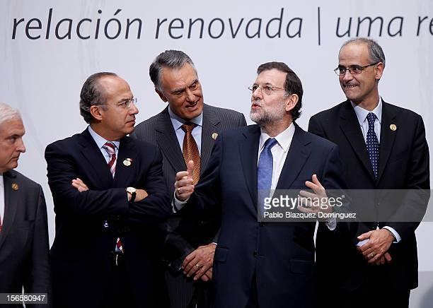 President Ricardo Martinelli of Panama President Felipe Calderon of Mexico President Anibal Cavaco Silva of Portugal Spain's Prime minister Mariano...