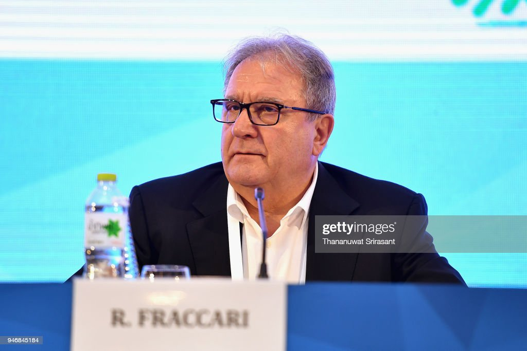 President Riccardo Fraccari attends the ARISF General Assembly on day two of the SportAccord at Centara Grand & Bangkok Convention Centre on April 16, 2018 in Bangkok, Thailand.