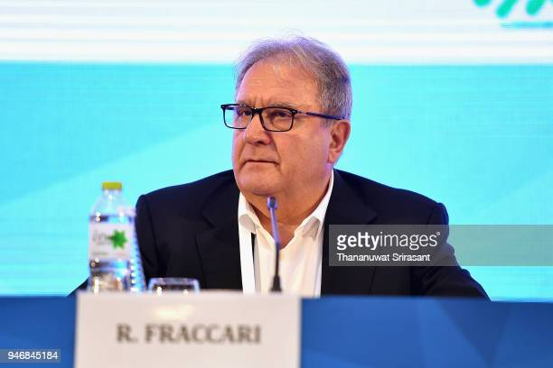 President Riccardo Fraccari attends the ARISF General Assembly on day two of the SportAccord at Centara Grand Bangkok Convention Centre on April 16...