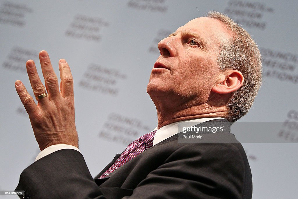 President Richard Haass participates in a panel discussion at the 2013 Council On Foreign Relations Symposium at the Council on Foreign Relations on March 20, 2013 in Washington, DC.