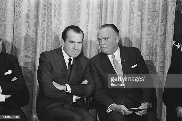 President Richard Nixon and FBI Director J Edgar Hoover Washington May 28 1969