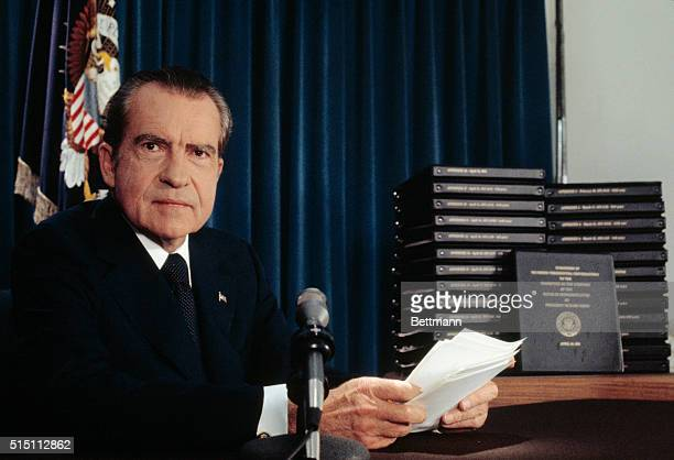 President Richard Nixon said he will turn over 1200 pages of edited transcripts about Watergate scandal to the House Judiciary Committee that he said...