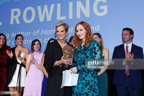 President, Robert F. Kennedy Human Rights Kerry Kennedy and the Kennedy family present an award to J.K. Rowling on stage during the Robert F. Kennedy...