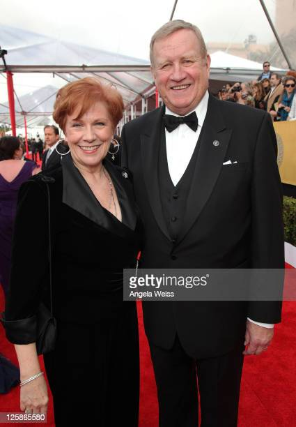 President Roberta Reardon and SAG President Ken Howard arrive at the 17th Annual Screen Actors Guild Awards at The Shrine Auditorium on January 30,...