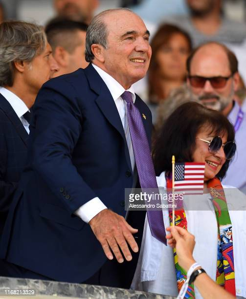 President Rocco Commisso of Fiorentina ACF gestures during the Serie A match between ACF Fiorentina and Juventus at Stadio Artemio Franchi on...