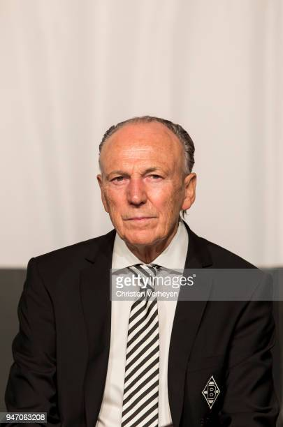 President Rolf Koenigs of Borussia Moenchengladbach during the Annual Meeting of Borussia Moenchengladbach at BorussiaPark on April 16 2018 in...