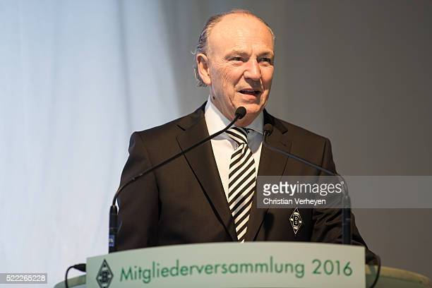 President Rolf Koenigs of Borussia Moenchengladbach during the General Assembly of Borussia Moenchengladbach at Borussia Park Stadium on April 18...