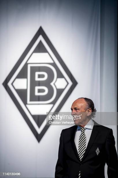 President Rolf Koenigs of Borussia Moenchengladbach is seen during the general assembly at Borussia-Park on April 29, 2019 in Moenchengladbach,...