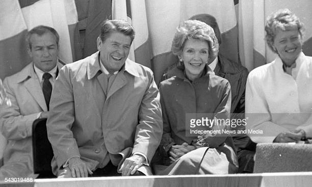 US President Ronald Reagan and First Lady Nancy during a State visit Ballyporeen Ireland June 3 1984