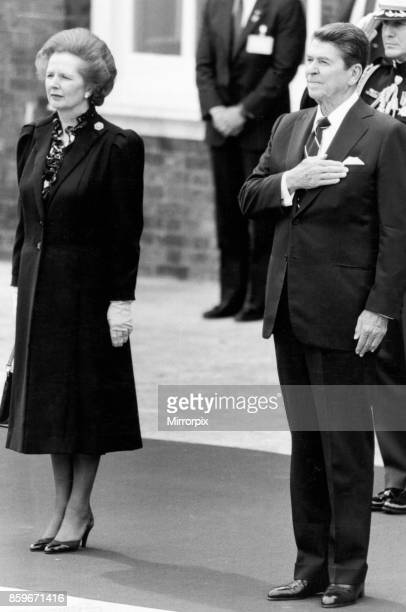 President Ronald Reagan and Prime Minister Margaret Thatcher greeted each other in London on Monday June 4th at Kensington Palace Picture Show The...