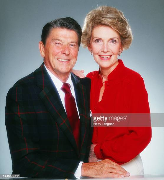 President Ronald Reagan and wife Nancy Reagan poses for a portrait in 1980 in Los Angeles California Photo by Harry Langdon/Getty Images