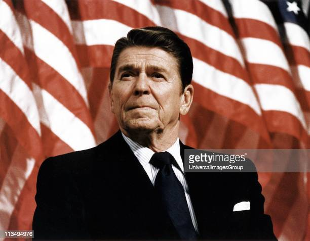 President Ronald Reagan at Durenberger Republican convention Rally 1982