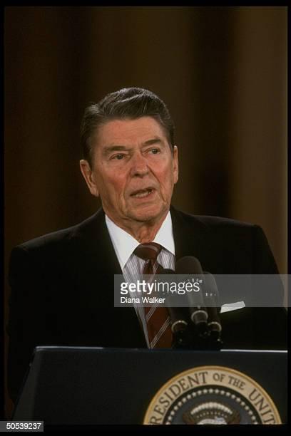 President Ronald Reagan at press conference re IranConra affair