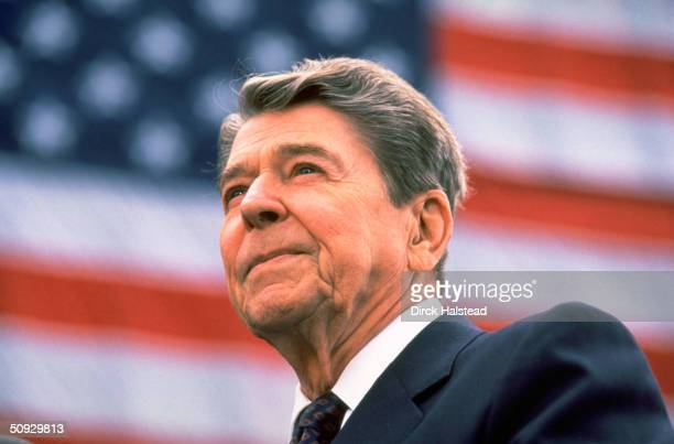 President Ronald Reagan campaigns in Orange County California during his 1984 reelection campaign