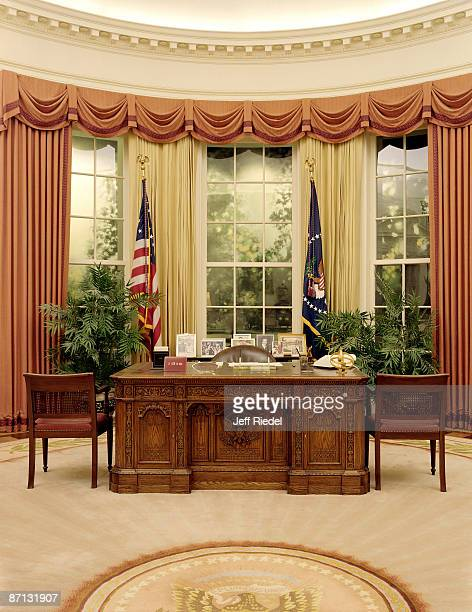 President Ronald Reagan's Oval Office replicated in the Reagan Library in Simi Valley California Image published in online portfolio