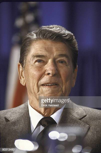 US President Ronald W Reagan attending a fundraiser for Senate Candidate Linda Chavez's campaign