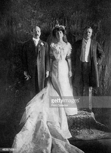 President Roosevelt and Mr and Mrs Longworth President Theodore Roosevelt with his daughter Alice and his soninlaw Nicholas Longworth on the occasion...