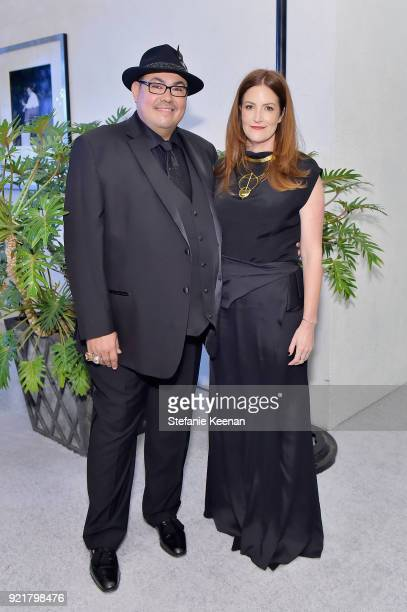 President Salvador Perez and costume designer Alix Friedberg attend the Costume Designers Guild Awards at The Beverly Hilton Hotel on February 20...