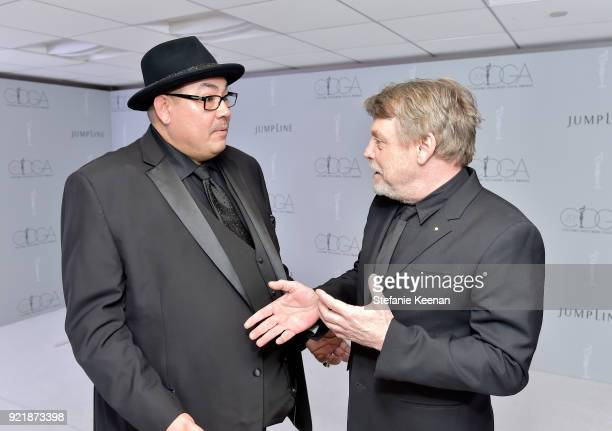 President Salvador Perez and Mark Hamill attend the Costume Designers Guild Awards at The Beverly Hilton Hotel on February 20 2018 in Beverly Hills...