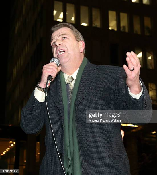 President Sam Hammond speaks during Toronto elementary and secondary teachers during protest of Bill 115 at Mowat Block on Bay St January 15 2013...