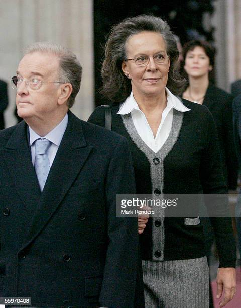 President Sampaio Mrs Maria Jose Ritta vist the Cathedral on October 20 2005 in Antwerp Belgium The President of the Portuguese Republic Jorge...