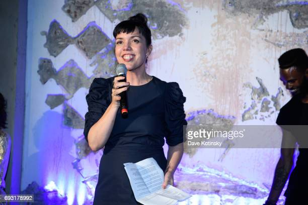 President Sarah Barnett speaks at BBC AMERICA's 'Orphan Black' Premiere Party at Vandal on June 6 2017 in New York City