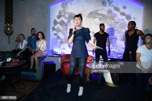 President Sarah Barnett speaks at BBC AMERICA's Orphan Black Premiere Party at Vandal on June 6 2017 in New York City