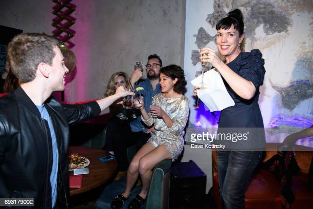 President Sarah Barnett toasts at BBC AMERICA's 'Orphan Black' Premiere Party at Vandal on June 6 2017 in New York City