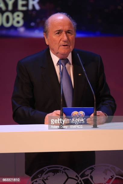 President Sepp Blatter at the FIFA World Player Gala 2008