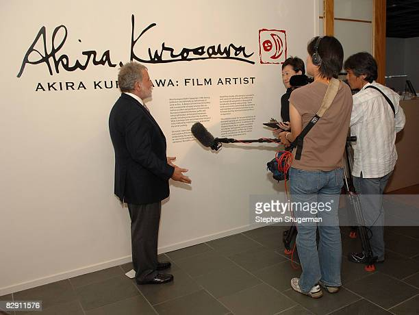 President Sid Ganis is interviewed at the Academy of Motion Picture Arts and Sciences' salute to director Akira Kurosawa at the Samuel Goldwyn...