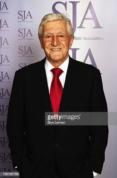 President Sir Michael Parkinson attends the SJA 2011 Sports Awards at the Grand Connaught Rooms on December 7 2011 in London England
