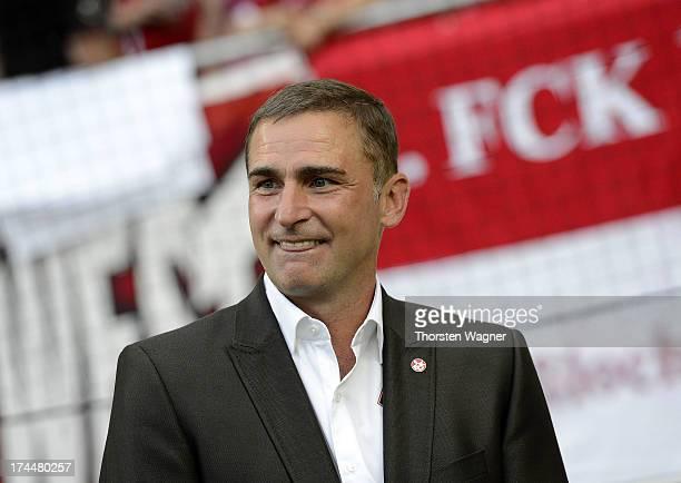 President Stefan Kuntz of Kaiserslautern looks on prior the second Bundesliga match between 1FC Kaiserslautern and FC Ingolstadt at FritzWalter...