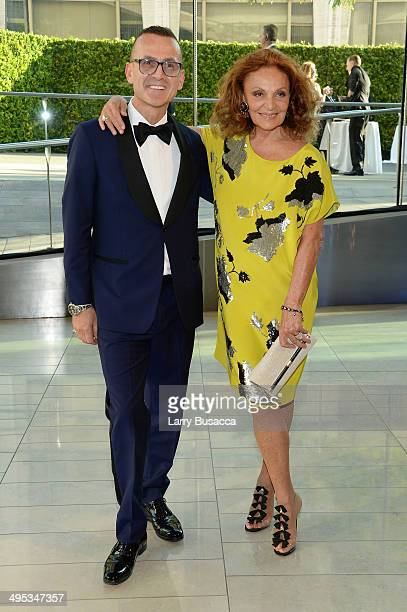 President Steven Kolb and designer Diane Von Furstenberg attend the 2014 CFDA fashion awards at Alice Tully Hall Lincoln Center on June 2 2014 in New...
