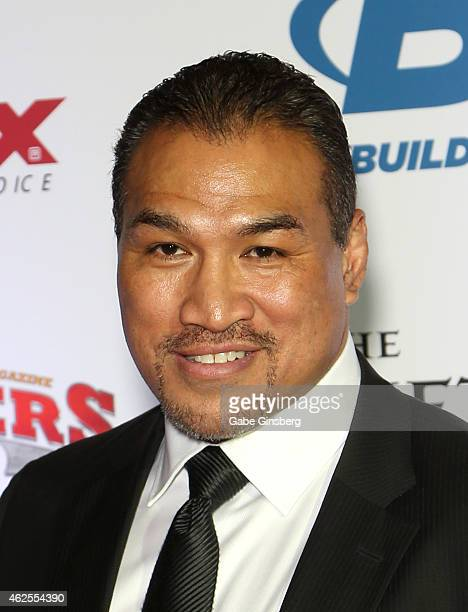 President Sugar Ray Sefo arrives at the seventh annual Fighters Only World Mixed Martial Arts Awards at The Palazzo Las Vegas on January 30 2015 in...