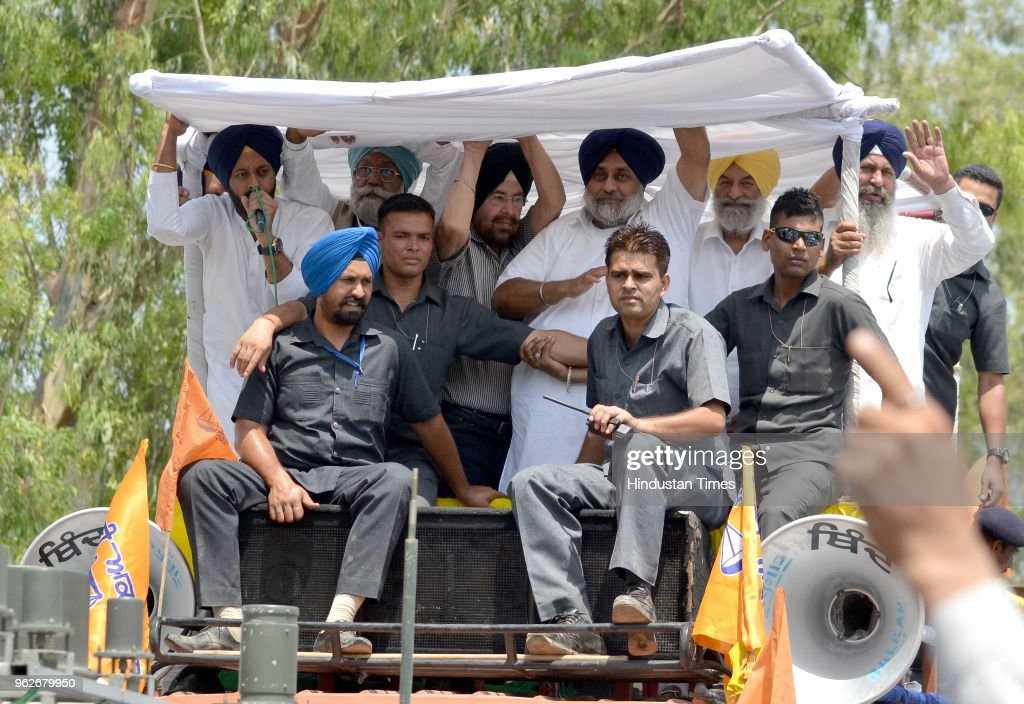 Shahkot Bypoll: SAD President Sukhbir Badal Holds Roadshow In Support Of Naib Singh Kohar