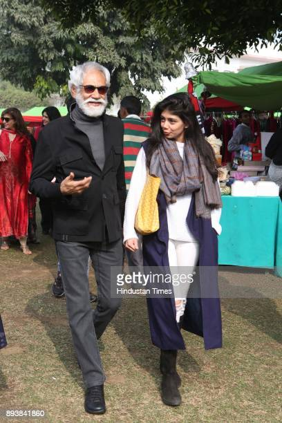 President Sunil Sethi and Designer Tanira Sethi Dang during the Winter Carnival 2017 organised by NGO Tamanna at the Residence of British High...