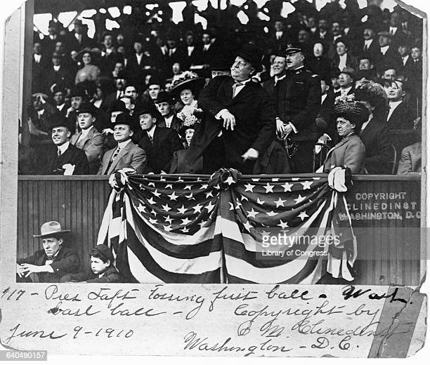 President Taft Throwing Out the First Ball
