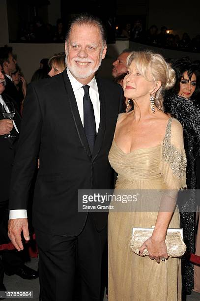 President Taylor Hackford and Dame Helen Mirren arrive at the 64th Annual Directors Guild Of America Awards at the Grand Ballroom at Hollywood...