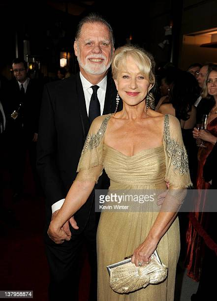 President Taylor Hackford and wife actress Helen Mirren arrive at the 64th Annual Directors Guild Of America Awards held at the Grand Ballroom at...