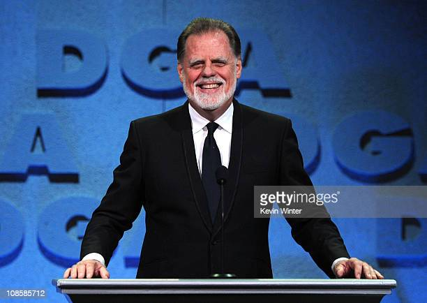 President Taylor Hackford onstage at the 63rd Annual Directors Guild Of America Awards held at the Grand Ballroom at Hollywood Highland on January 29...