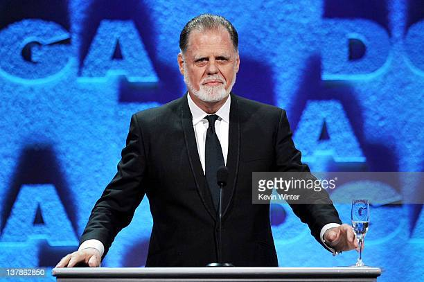 President Taylor Hackford speaks onstage during the 64th Annual Directors Guild Of America Awards held at the Grand Ballroom at Hollywood Highland on...