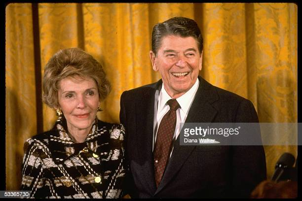 President teary eyed Nancy Reagan bidding sentimental farewell to WH staff at end of their 8 yrs in residence at WH