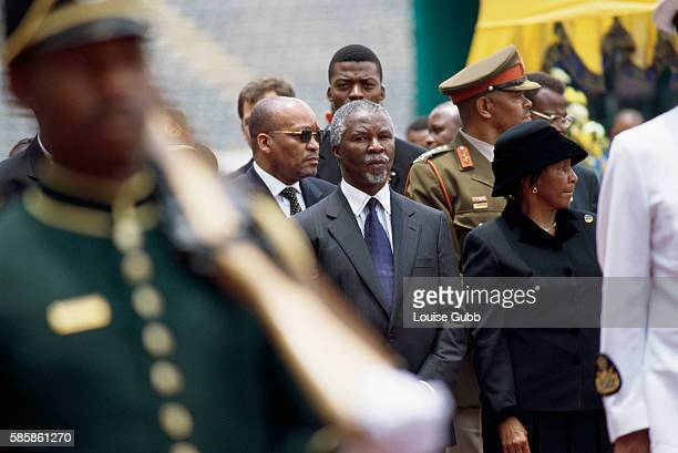 President Thabo Mbeki attending the funeral of former defence minister Joe Modise in Johannesburg, South Africa.