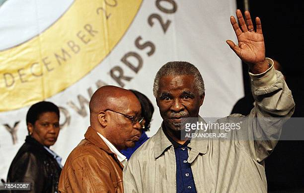 ANC President Thabo Mbeki Jacob Zuma and South Africa Deputy President Phumzile MlamboNgcuka attend the ANC 52nd National Congress just before Jacob...