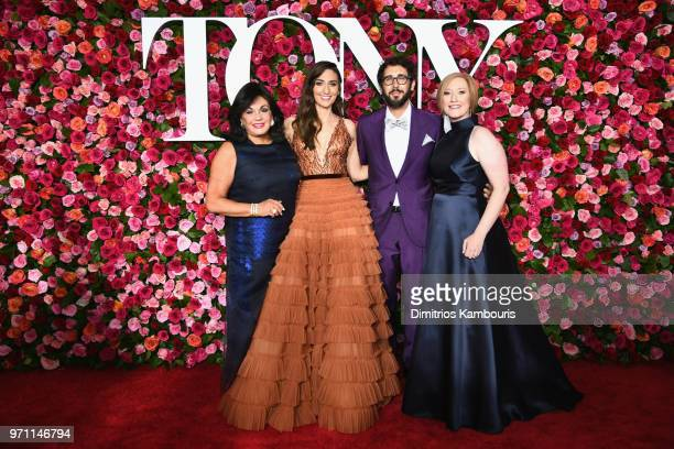 President The Broadway League Charlotte St Martin Sara Bareilles Josh Groban and President CEO the American Theatre Wing Heather Hitchens attend the...