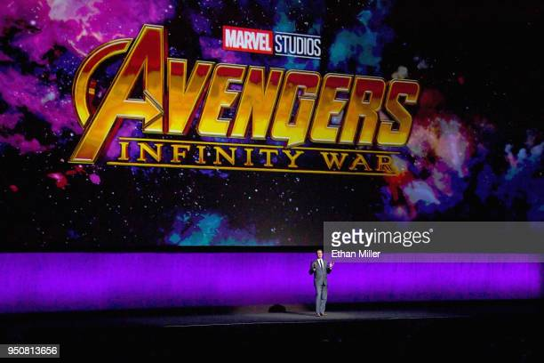 President Theatrical Distribution Walt Disney Studios Motion Pictures Dave Hollis speaks onstage during the CinemaCon 2018 The State of the Industry...