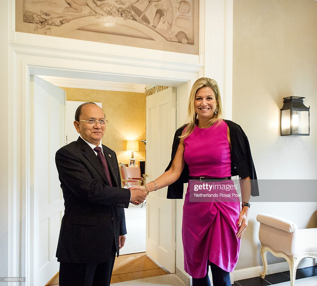 Myanmar President Thein Sein On Two-Day Visit To Holland : ニュース写真