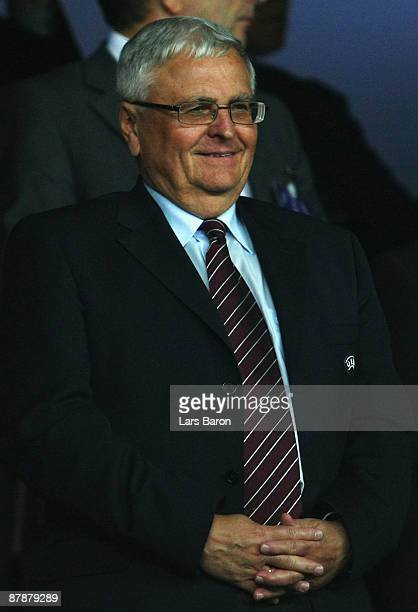 President Theo Zwanziger looks on during the UEFA Cup Final between Shakhtar Donetsk and Werder Bremen at the Sukru Saracoglu Stadium on May 20 2009...