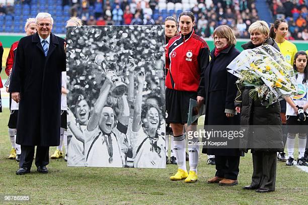 President Theo Zwanziger of the German Football Association Hannelore Ratzeburg Vicepresident women and girls football of German Football Association...