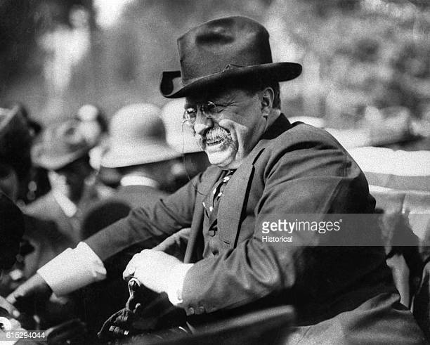 President Theodore Roosevelt sitting in an automobile Roosevelt succeeded as president after the death William McKinley and served for nine years...
